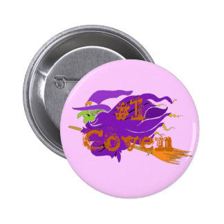 1 Coven Classic Witch Button Customize Me