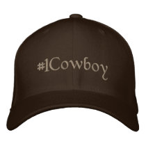 #1 Cowboy Embroidered Baseball Hat