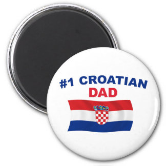 #1 Croatian Dad 2 Inch Round Magnet