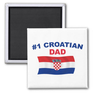 #1 Croatian Dad 2 Inch Square Magnet