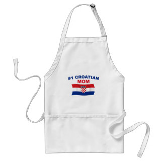 #1 Croatian Mom Adult Apron