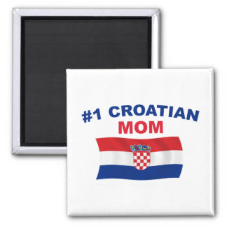 #1 Croatian Mom 2 Inch Square Magnet