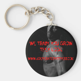 1_d, WE TRAIN. YOU GROW. THEY LOOK., WWW.XGENER... Keychain