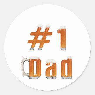 #1 Dad 1 Classic Round Sticker