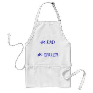 #1 DAD#1 GRILLER ADULT APRON