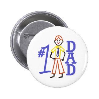 #1 Dad 2 Inch Round Button