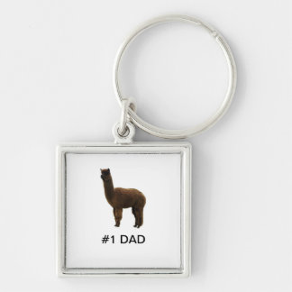 #1 Dad Alpaca Keychain