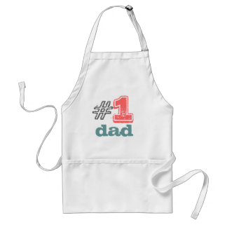 """#1 dad apron """"today's best award"""""""