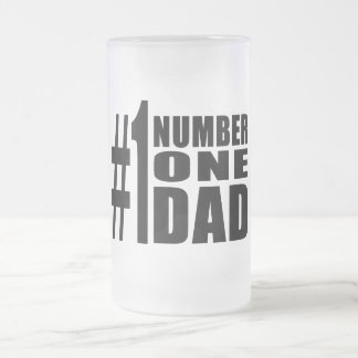 #1 Dad Birthdays & Christmas : Number One Dad 16 Oz Frosted Glass Beer Mug