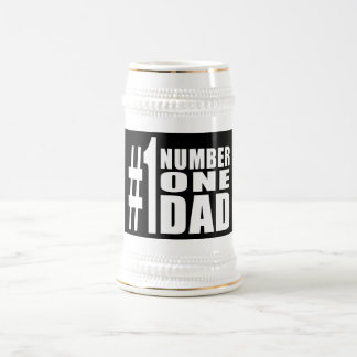 #1 Dad Birthdays & Christmas : Number One Dad 18 Oz Beer Stein
