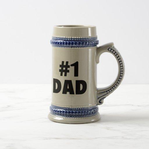 #1 Dad (Blk) Coffee Mugs
