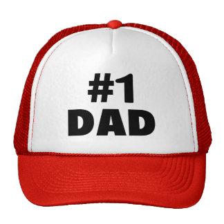 #1 Dad (Blk) Hats