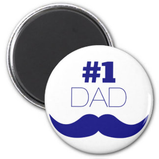 #1 Dad Blue Mustache - Number One Magnet