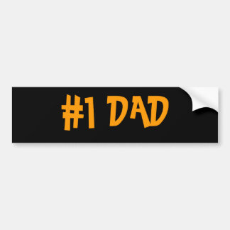 #1 DAD CAR BUMPER STICKER