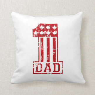 1 Dad Canada Throw Pillow