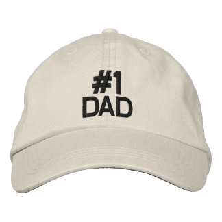 #1 DAD CAP EMBROIDERED BASEBALL CAP