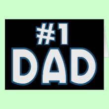 #1 Dad Card - For the worlds best Dads, makes a great fathers day gift or for your Dads birthday.