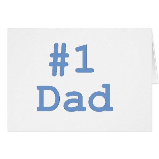 #1 Dad Card