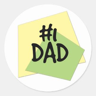#1 Dad Classic Round Sticker