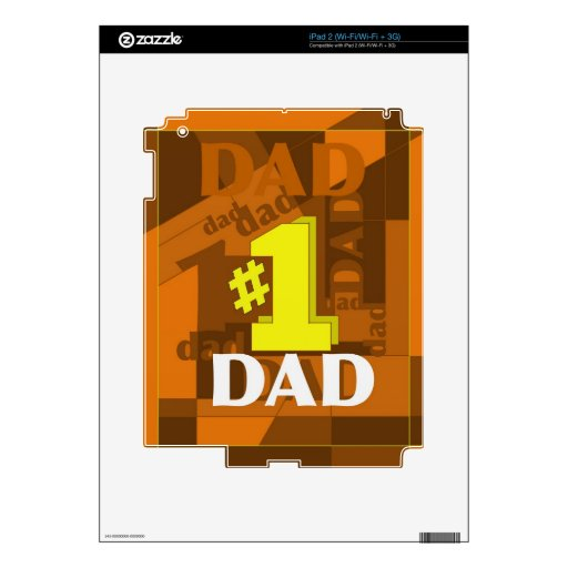 # 1 DAD DECALS FOR iPad 2