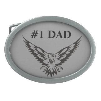 #1 Dad Eagle Belt Buckle. Oval Belt Buckle
