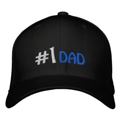 #1 Dad Embroidered Cap Embroidered Baseball Caps