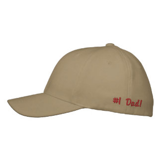 #1 Dad!-Embroidered Hat