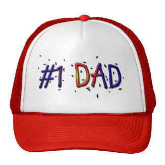 #1 Dad Father's Day Ball Cap Trucker Hats