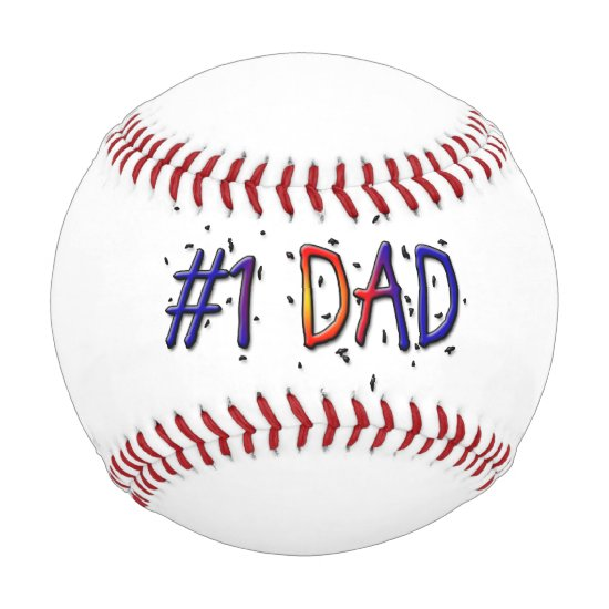 #1 Dad Father's Day Baseball