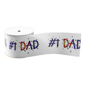#1 Dad Father's  Day Gift Ribbon