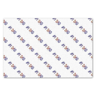 #1 Dad Father's Day Gift Tissue Paper
