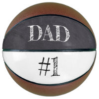 #1 DAD father's day on chalkboard Basketball