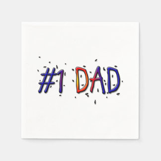 #1 Dad Father's Day Paper Napkins