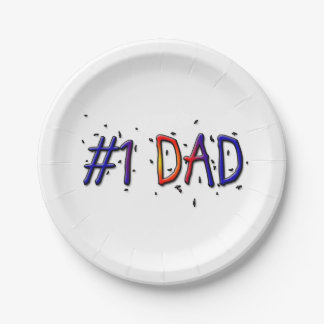 #1 Dad Father's Day Paper Plates