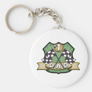 #1 Dad Father's Day Race Fan Key Chain