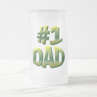 #1 Dad Frosted Glass Beer Mug
