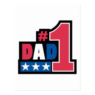 #1 Dad Gift Postcard