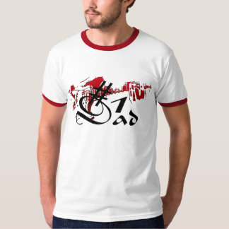 #1 Dad Guitar Red T-Shirt