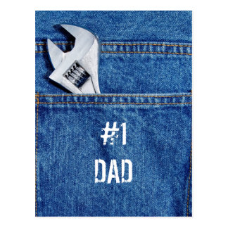 #1 Dad Handyman Postcard