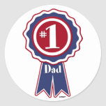 #1 Dad - Happy Father's Day Classic Round Sticker