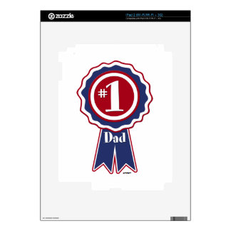 #1 Dad - Happy Father's Day iPad 2 Decals