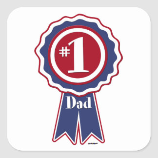 #1 Dad - Happy Father's Day Square Sticker