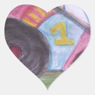 #1 Dad Heart Sticker