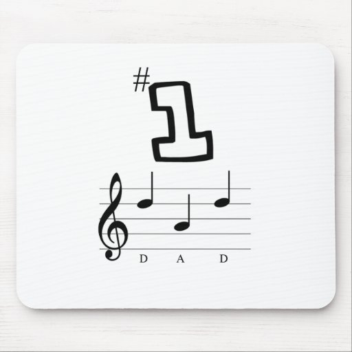 #1 Dad in Musical Notation Mouse Pads