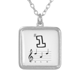 #1 Dad in Musical Notation Custom Jewelry