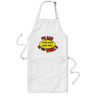 #1 Dad in the World Customize Father's Day Long Apron