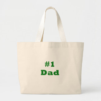 #1 Dad Large Tote Bag