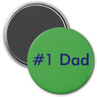 #1 Dad 3 Inch Round Magnet