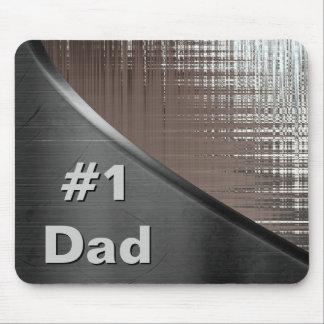 #1 Dad Metal Curve Mousepad