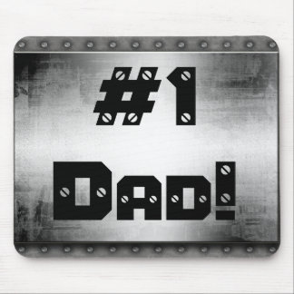 #1 Dad Metal Mousepad